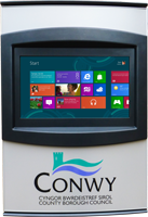 The Orbit Outdoor touch screen kiosk suitable for use outside