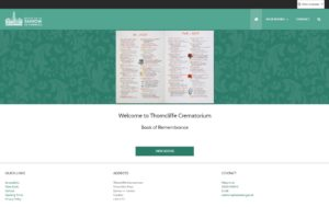 Image of Thorncliffe Crematorium Book of Remembrance website
