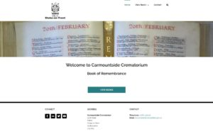 Image of Carmountside Book of Remembrance website