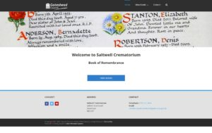 Image of Saltwell Crematorium Book of Remembrance website