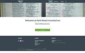 Image of Park Wood Crematorium Book of Remembrance website