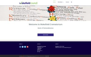 Image of Wakefield Crematorium Book of Remembrance website