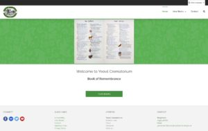 Image of Yeovil Crematorium Book of Remembrance website